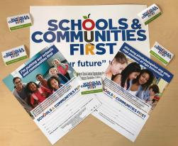 Schools & Communities First outreach materials