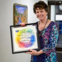 Lori Anderson with Award
