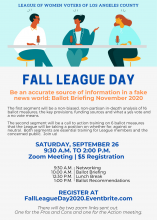 League of Women Voters Los Angeles Fall League Day 2020