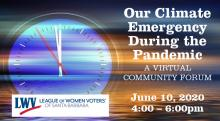 LWVSB Forum Climate Emergency During the Pandemic