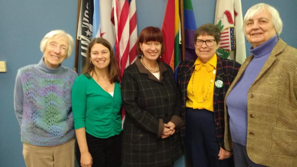 League members visit Rep. Heather Steans