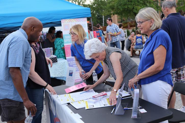 Outdoor voter registration event