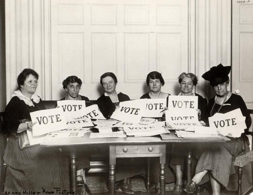 Women Vote Historical photo