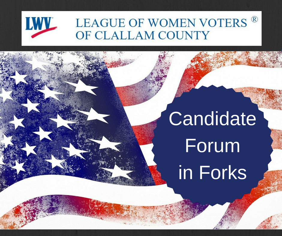flag with text candidate forum in Forks