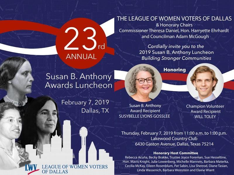 Susan B. Anthony Luncheon Invitation