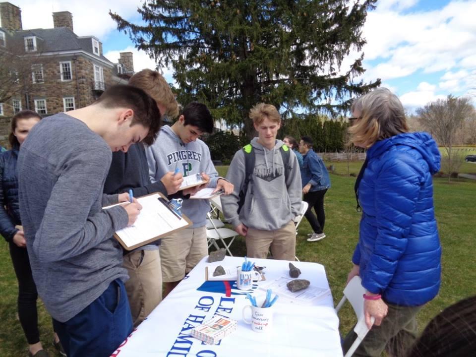 Registering voters