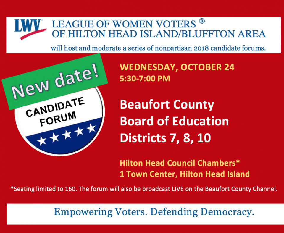 Oct. 24 Boad of Education Candidate Forum