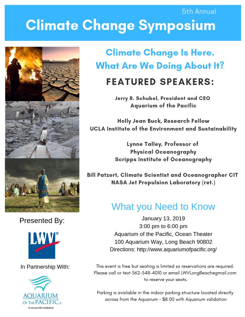 2019 Climate Change Symposium Corrected Flyer