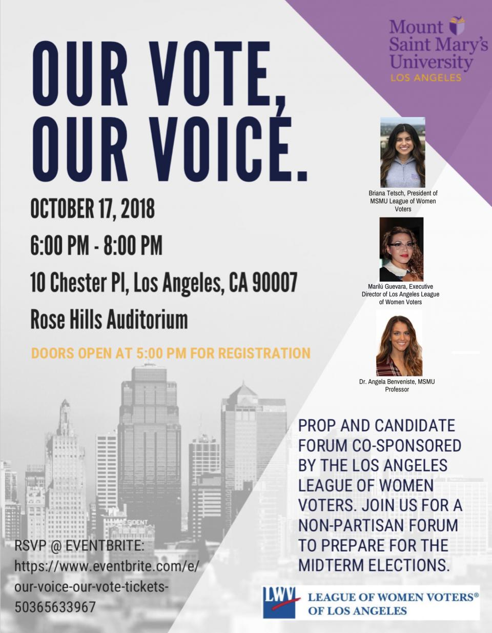 Our Voice Our Vote - MSMU