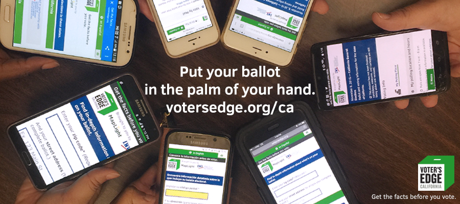 Voter's Edge, California, election, cavotes, voting, ballots, voting guides, unbiased