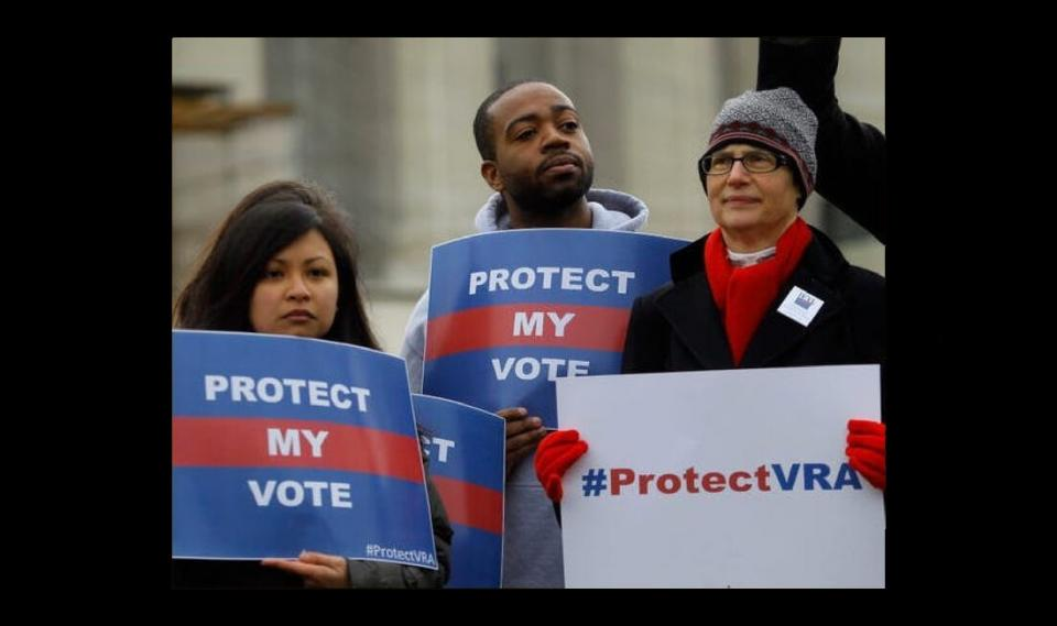 Protect my Vote Rally attendees