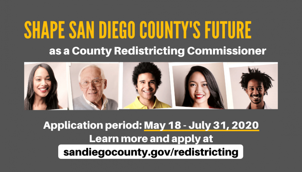 Shape San Diego's Future by Applying to the Redistricting Commission