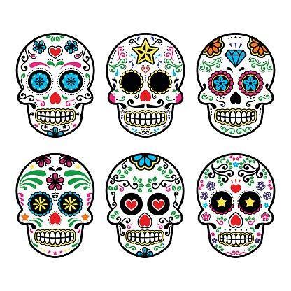 Image of Mexican sugar skulls for Dia de los Muertos