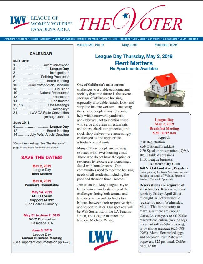 The Voter Newsletter Cover Page
