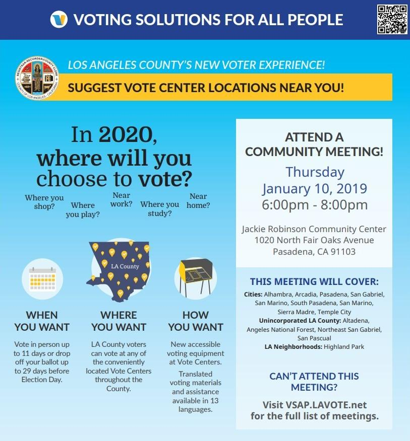Voter Center Locations Meeting