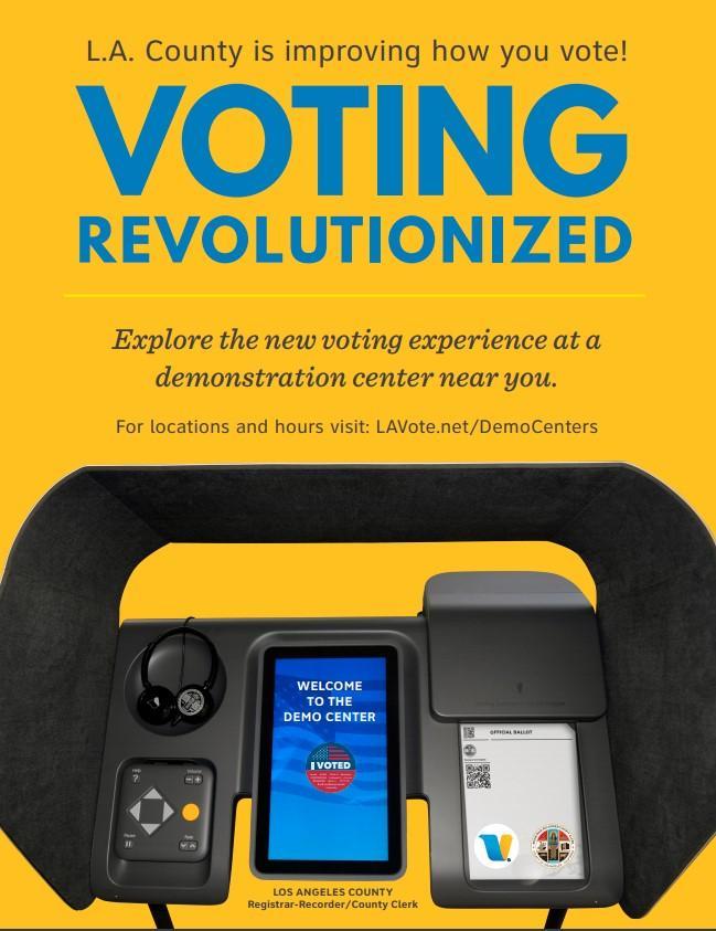 LWV Pasadena Area Voting Demo Centers