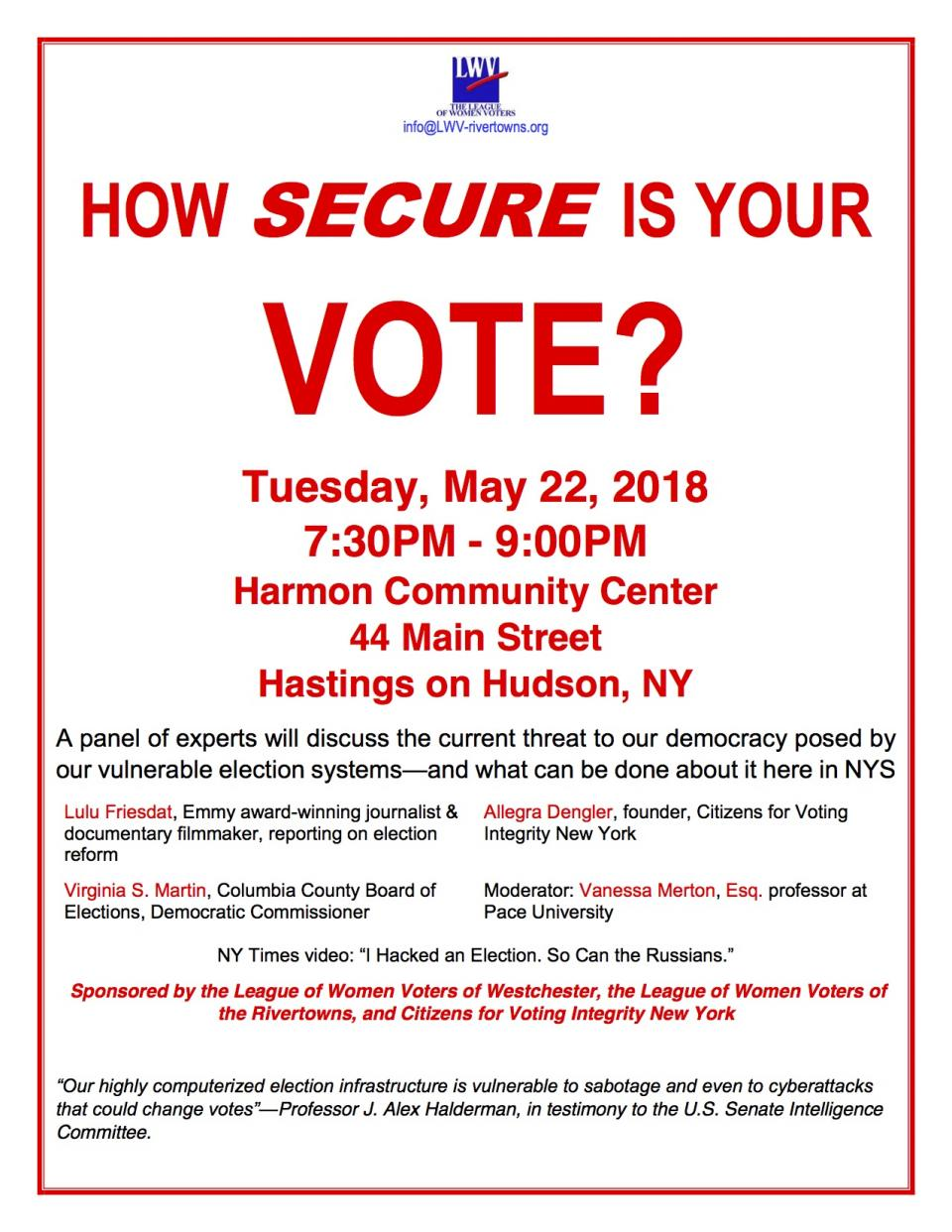 How secure is your vote?