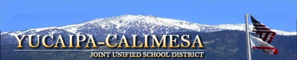 Yucaipa Calimesa Joint Unified School District Masthead