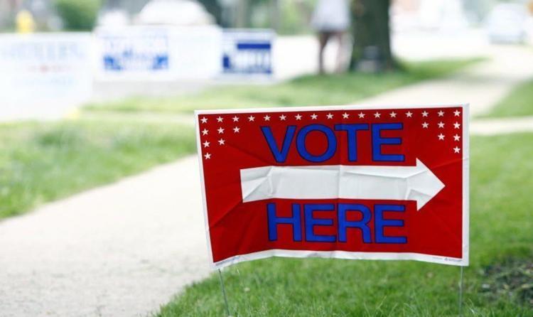 Vote Here yard sign