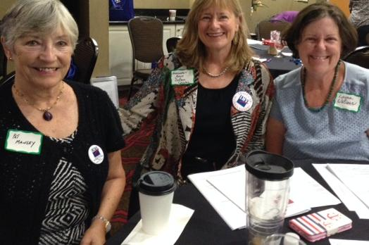 LWV of the Columbia Area members smiling together at LWVSC Convention 2017