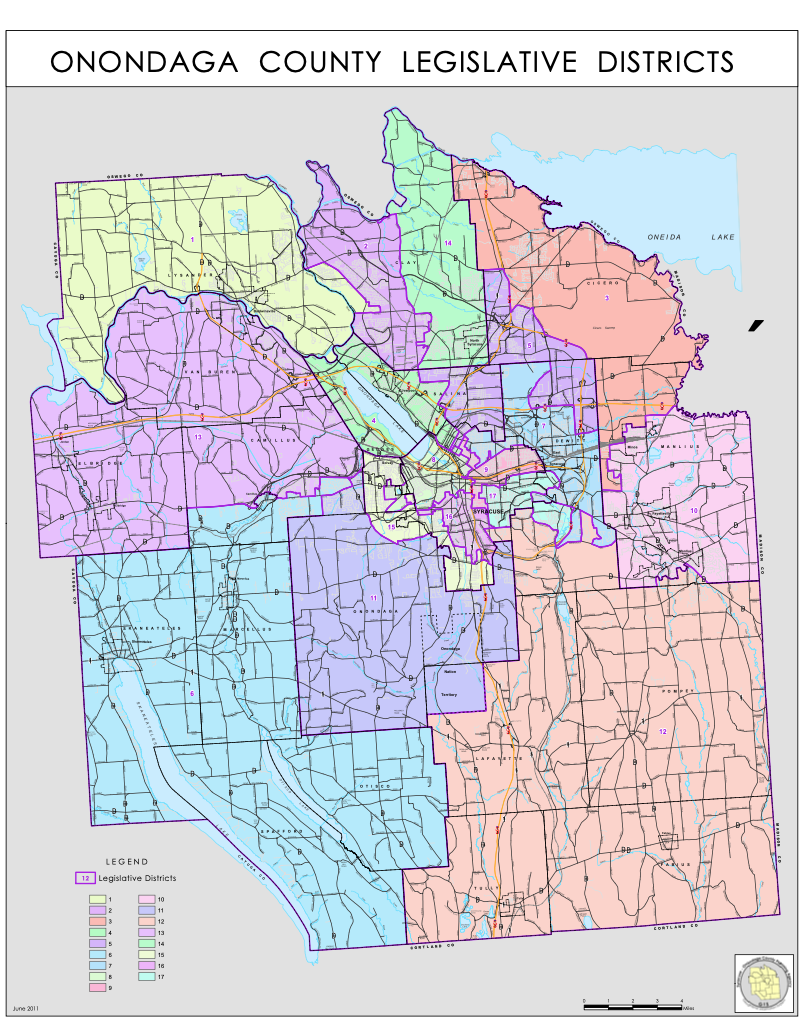 Legislative Districts Onondaga County