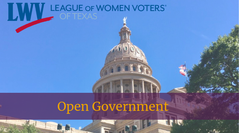 Texas Capitol Open Government
