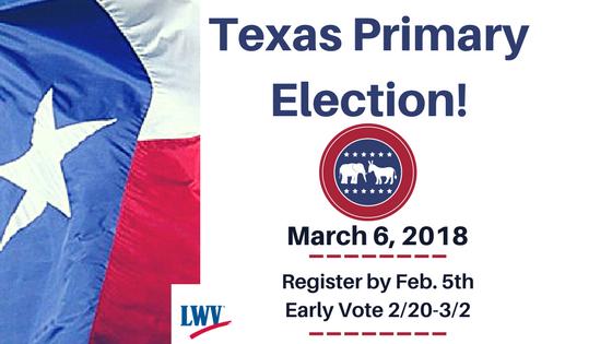 Texas Primary Election graphic