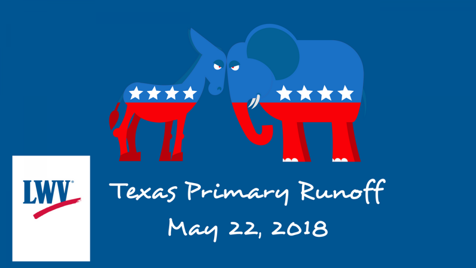 May 22 Primary Runoff election