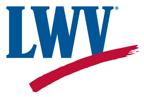 Logo of LWV with swish