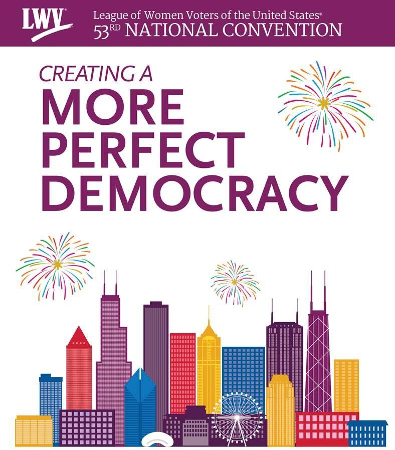 chicago skyline celebrating LWV Convention