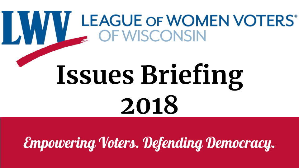 Issues Briefing 2018