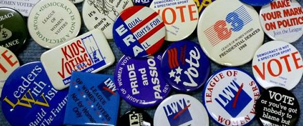 League of Women Voters Buttons