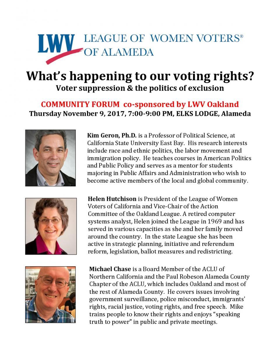 Voter Forum Handout