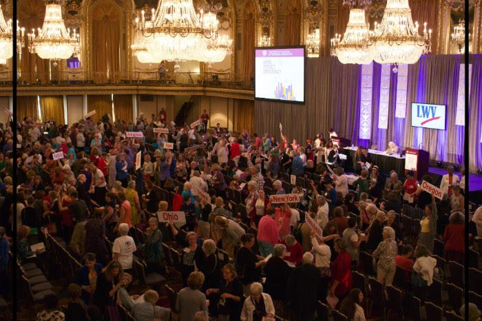 Photo of LWV members at Annual Convention Chicago 2018