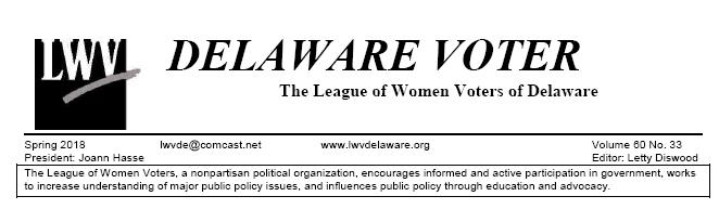 LWV Delaware Voter newsletter