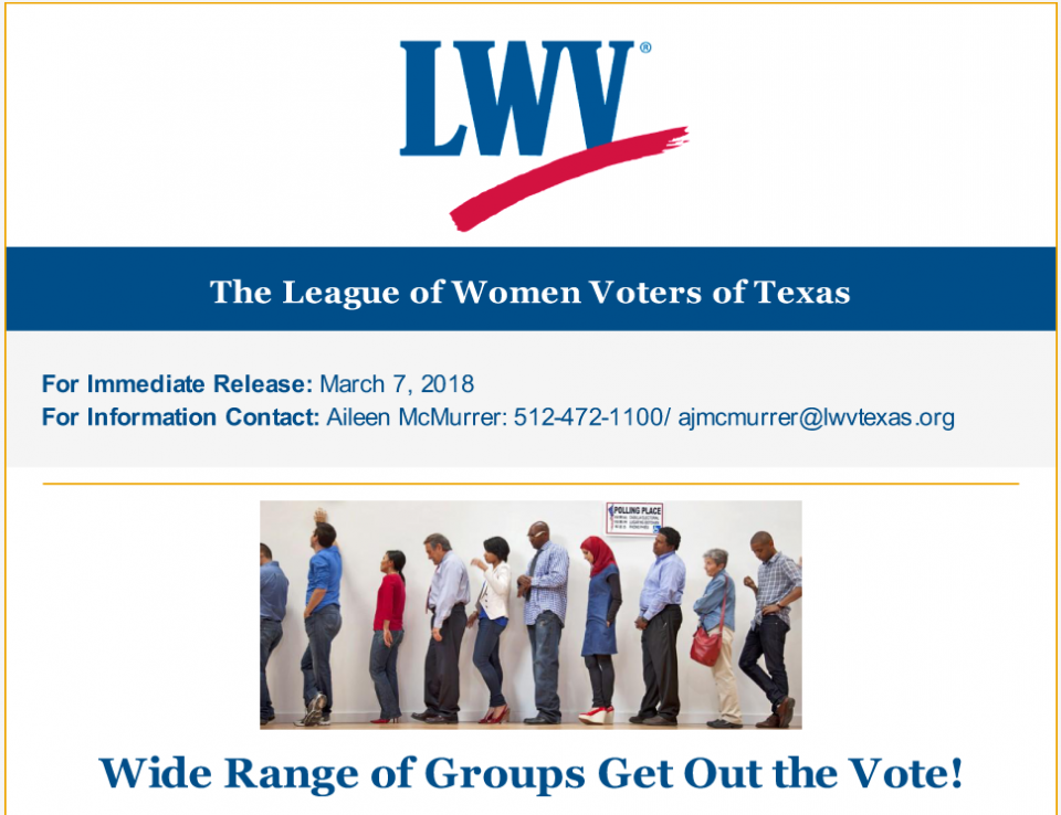 Wide Range of Groups Get Out the Vote!