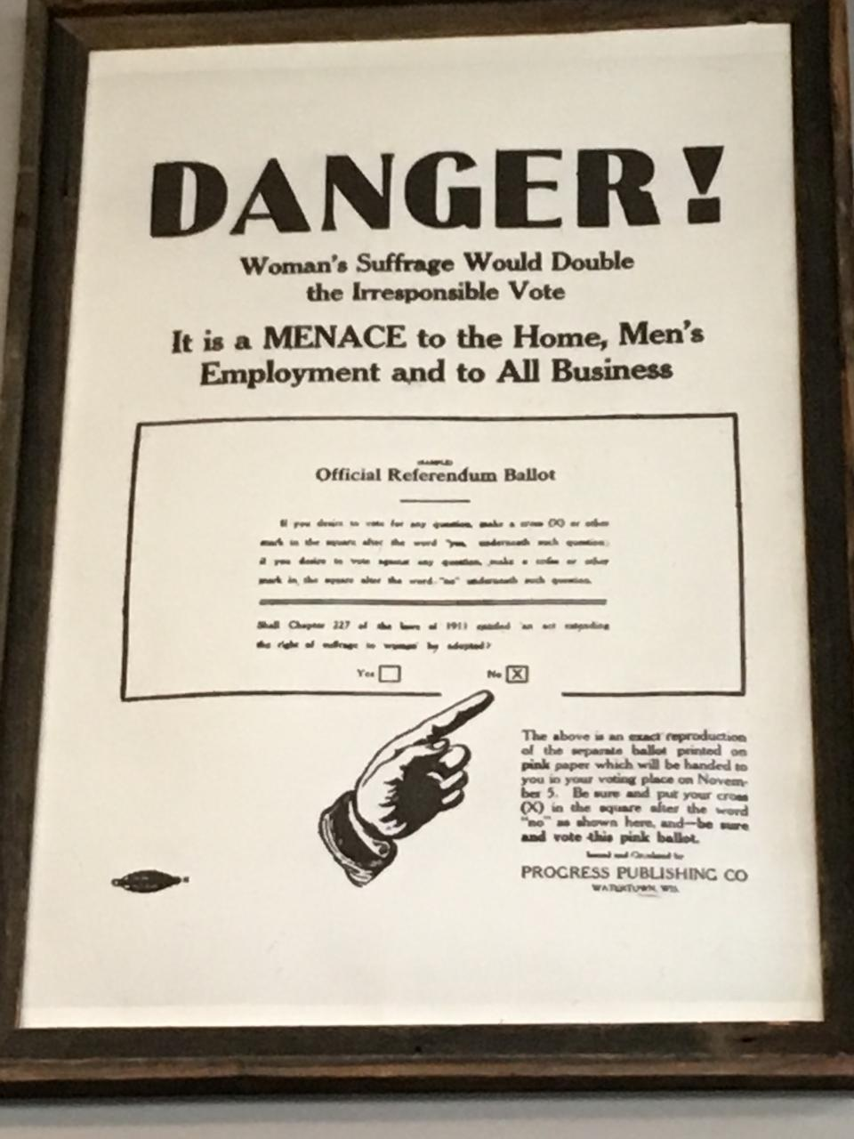 Danger! Women's Suffrage Would Double the Irresponsible Vote.