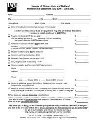 Oakland Membership Form
