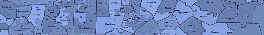 Header image of North Carolina county lines