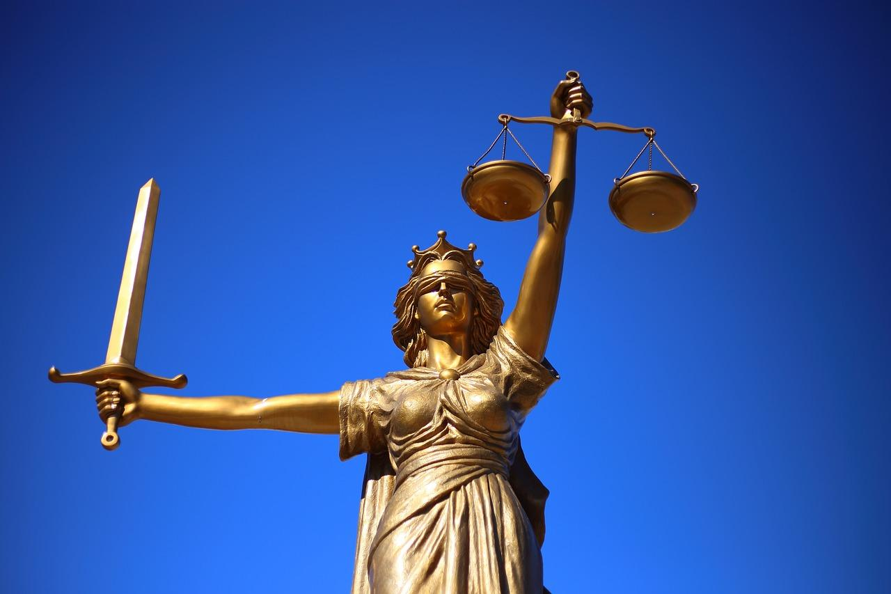 Lady Justice statue - stock photo