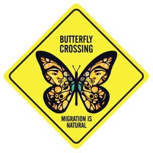 butterfly crossing - immigration is natural