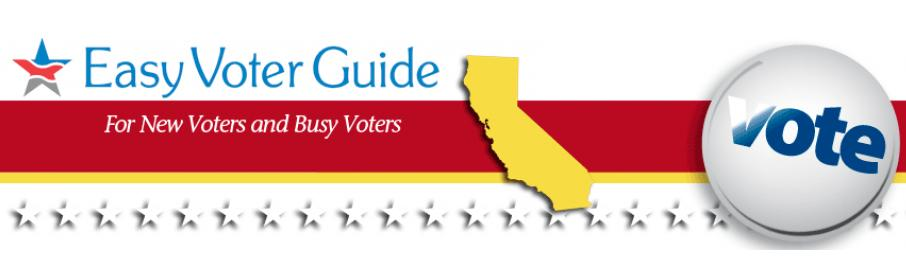 League of Women Voters of California Education Fund's Easy Voter Guide logo