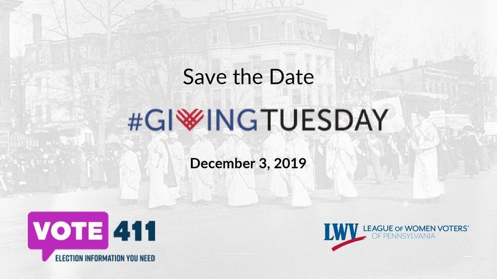 LWVPA Giving Tuesday