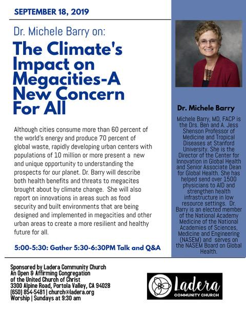 Dr. Michele Barry on The Climate's Impact on Megacities Event
