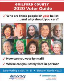 Print or Screen Voters Guide by Democracy NC and Common Cause