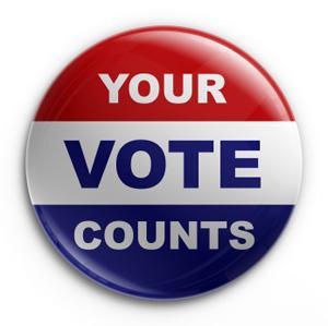 your vote counts button