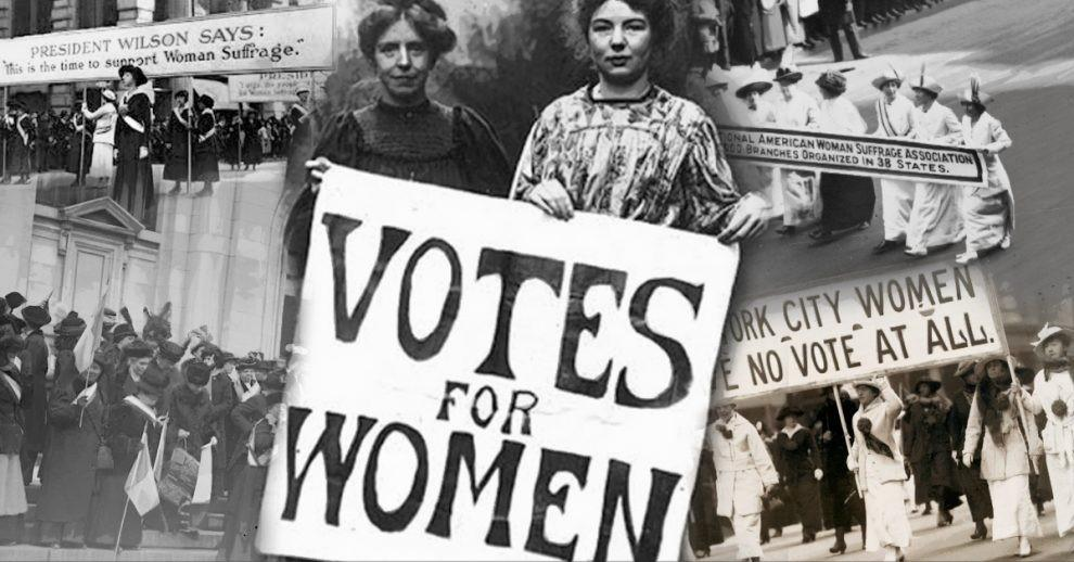 montage of suffragist photos
