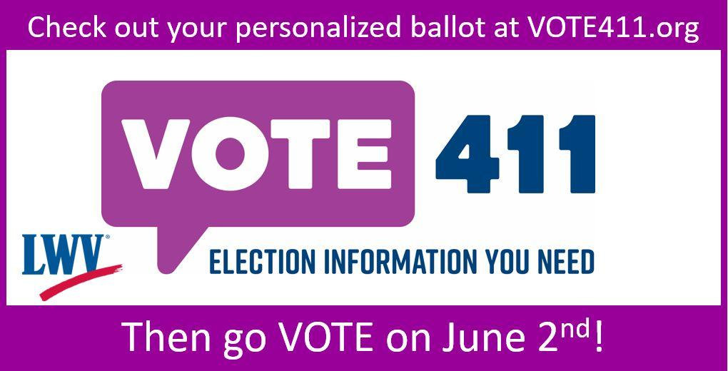 Vote411.org - June 2 election