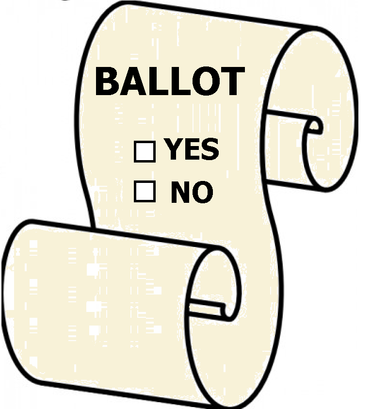Clipart of a Ballot