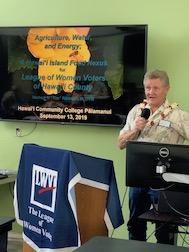 LWVHC General Mtg. Guest Speaker Dr. Herbert Tim Richards food nexus